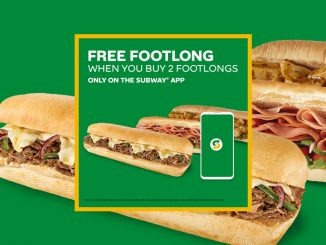Buy 2 Footlongs Get One Free In The Subway Canada App Through February 28, 2021