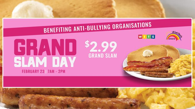 Denny's Canada Offers Original Grand Slam For $2.99 On February 23, 2021