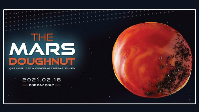 New Mars Doughnut Available For One Day Only At Krispy Kreme Canada On February 18, 2021