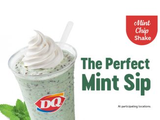 New Mint Chip Shake Arrives At Dairy Queen Canada