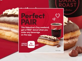 Tim Hortons Offers Free Donut With Any Drink Order In The App Through February 15, 2021