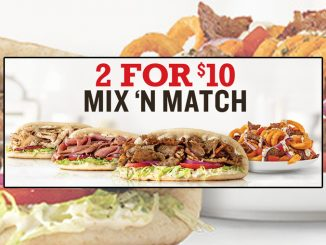 Arby's Canada Launches Revamped 2 For $10 Mix 'N Match Deal