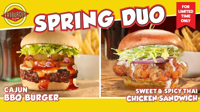 Fatburger Canada Adds New Cajun BBQ Burger And New Sweet & Spicy Thai Chicken Sandwich