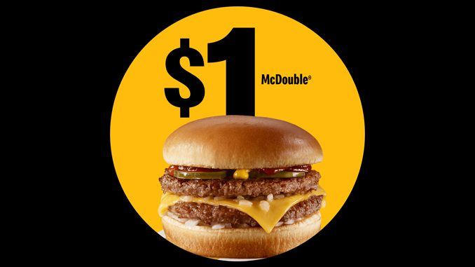 McDonald's Canada Offers $1 McDouble Deal On April 29, 2021