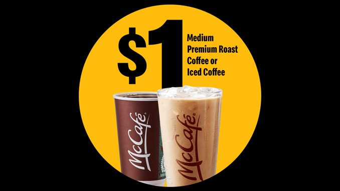 McDonald's Canada Offers $1 Medium Coffee Or Iced Coffee On April 24, 2021