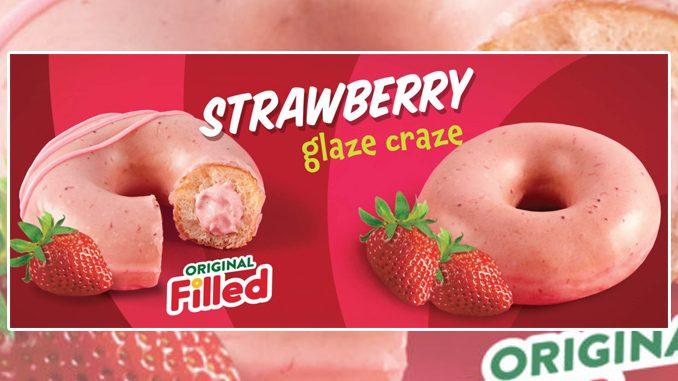 Krispy Kreme Canada Offers Strawberry Glazed Doughnuts Through May 6, 2021