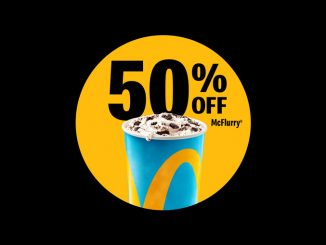 McDonald's Canada Offer 50% Off Any Size McFlurry On May 8, 2021