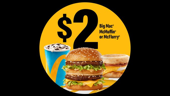 McDonald's Canada Offers $2 Big Mac, McMuffin Or McFlurry On May 9, 2021