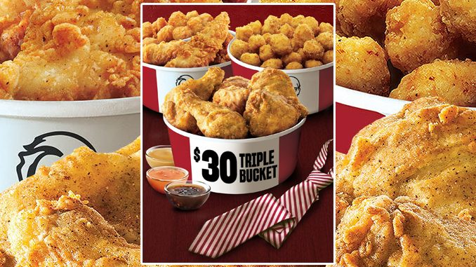 KFC Canada Puts Together $30 Triple Bucket Deal For Father's Day 2021