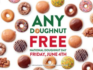 Krispy Kreme Canada Is Giving Away Free Doughnuts On June 4, 2021
