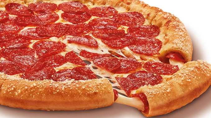 The Pepperoni And Cheese Stuffed Crazy Crust Pizza Is Back At Little Caesars Canada