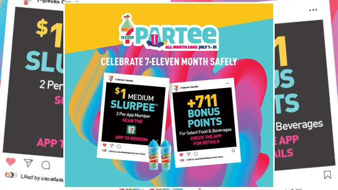 7-Eleven Canada Offers App Users 2 $1 Slurpee Coupons As Part Of July 2021 Birthday Celebration