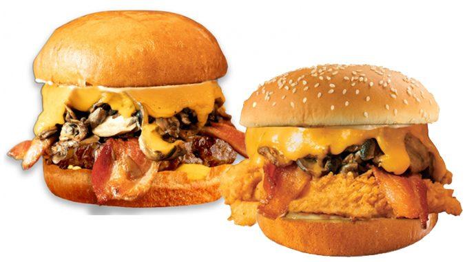 Fatburger Canada Adds New Bacon Cheddar Mushroom Melt And New Fried Chicken Mushroom Melt