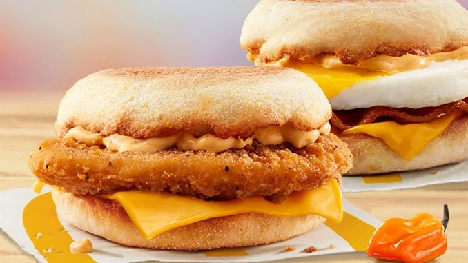 McDonald's Canada Adds New Spicy Habanero Chicken McMuffin And New Spicy Habanero Bacon 'N Egg McMuffin