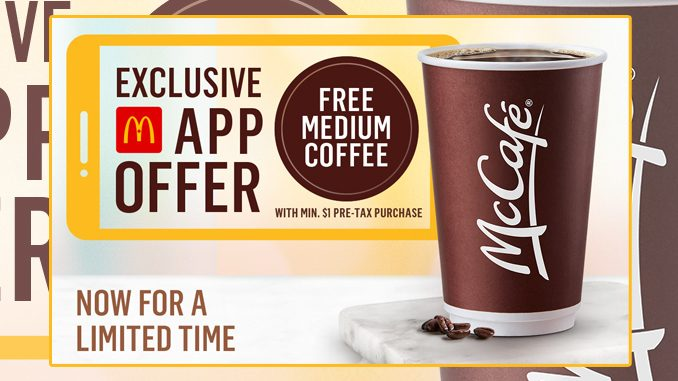 McDonald's Canada Offers Free Coffee With Any App Purchase Through September 6, 2021
