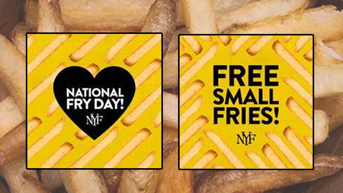 New York Fries Offers Free Fries For Fry Society Members From July 13 Through July 18, 2021
