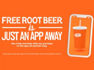 A&W Canada Offers Free Root Beer With Any In-App Purchase Through August 31, 2021