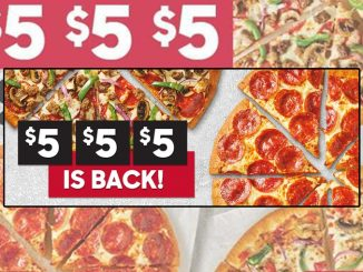 Pizza Hut Canada Offers $5 $5 $5 Pizza Deal For A Limited Time