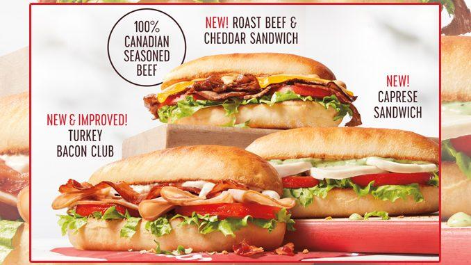 Tim Hortons Adds New Caprese Sandwich And New Roast Beef & Cheddar Sandwich