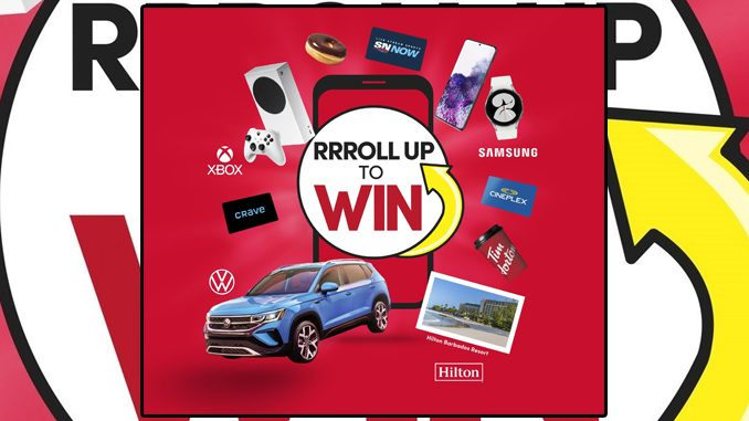 Roll Up To Win Returns To Tim Hortons On September 20, 2021