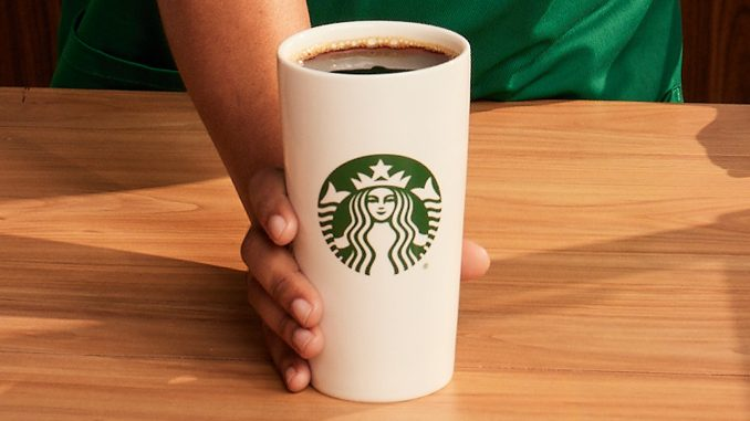 Starbucks Canada Offers Free Cup Of Coffee When You Bring In A Reusable Cup On September 29, 2021