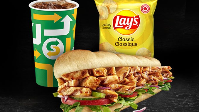 Subway Canada Offers Any Footlong Combo For $10 Through September 19, 2021