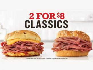 Arby's Canada Puts Together New 2 For $8 Classics Deal
